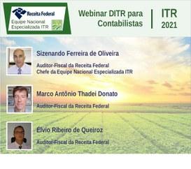 Equipe Nacional Especializada ITR realiza webinar sobre DITR